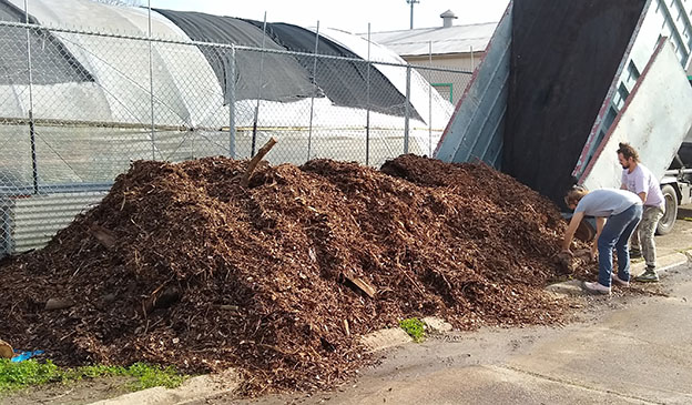 Pictured: 25 cubic yards delivered to a farm