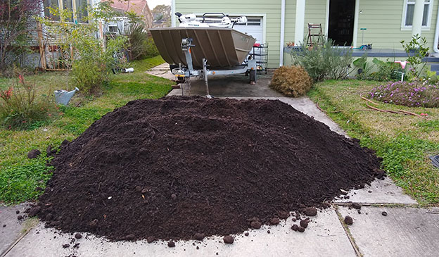 Pictured: 4 cubic yards delivered on a driveway