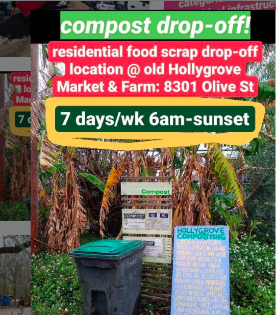 photo of our compost drop off bins with instructions